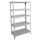 Rapidline boltless shelving unit 5 shelves 1830 x 1220 x 475mm silver grey