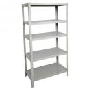Rapidline boltless shelving unit 5 shelves 1830 x 914 x 475mm silver grey