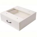 Rapid vibe desk pedestal fixed 1 drawer 465 x 447 x 152mm white