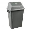 Italplast waste bin heavy duty with swing top lid 58 litre grey