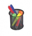 Italplast i 343 wire mesh pen pencil cup black