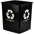 Italplast tidy bin recycle only 15 litre black