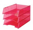 Italplast i 60tpk multi fit document tray tint pink