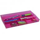 Italplast drawer tidy tinted pink