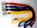 Lanyard osmer aligator clip woven asst colours