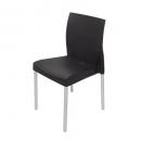 Leo poly chair with aluminium legs black