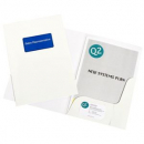 Marbig presentation folders A4 white gloss