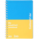 Colourhide notebook A5 200 page assorted