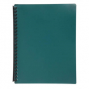 Marbig display book refillable A4 20 pocket dark green