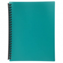 Marbig display book refillable A4 20 pocket green