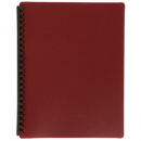 Marbig display book refillable A4 20 pocket maroon