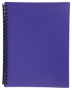 Marbig display book refillable A4 20 pocket purple