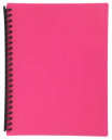 Marbig display book refillable A4 20 pocket pink
