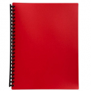 Marbig display book refillable A4 20 pocket red
