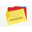 Marbig letter file with secure flap and tab A4 pack 3 clear