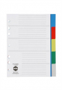 Marbig dividers polypropylene A5 5 tab coloured