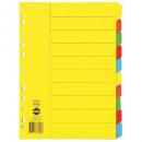 Marbig divider manilla A4 10 tab bright
