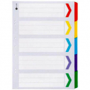 Marbig dividers portrait board A3 5 tab coloured