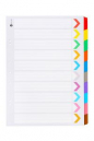 Marbig dividers portrait board A3 10 tab coloured
