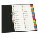 Marbig divider manilla A4 A-Z tab coloured