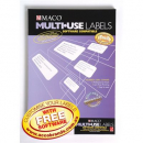 Maco labels multi-use software compatible 4up 99.1 x 139 box 100