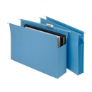 Marbig expanding suspension files foolscap blue box 20