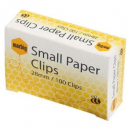 Marbig paper clips small round 28mm box 100