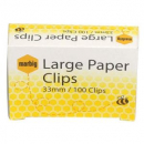 Marbig paper clips large round 33mm box 100