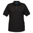 Prime mover MP101 micro mesh polo shirt short sleeve black extra large