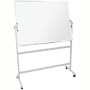 RAPIDLINE MOBILE WHITEBOARD DOUBLE SIDED PIVOTING WITH PEN TRAY AND STAND 1800 X 900MM