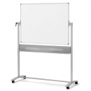 Nobo mobile whiteboard reversable magnetic 1500 x 1200mm