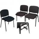 Nova stacking visitors chair black