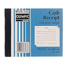 Olympic 614 cash receipt book carbon duplicate 100 x 125mm 100 leaf