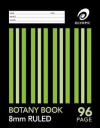 Olympic botany book stapled A4 96 page 8mm ruled