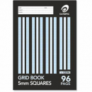 graph book A4 96 page 5mm grid