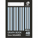 Graph book A4 48 page 5mm grid