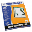 Cumberland sheet protector A4 copy safe 70 micron box 100