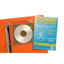 Cumberland cd/dvd pocket self adhesive with flap 160mm x 170mm pvc clear pack 5