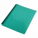 Cumberland display book refillable A4 20 pocket bottle green