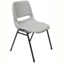 Rapidline stacking chair polypropylene grey