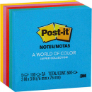 Post-it ultra notes standard 76 x 76mm jaipur assorted pack 5