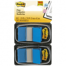 Post-it flags blue twin pack 100
