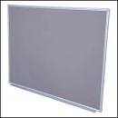 Rapidline aluminium framed pinboard 900 x 600mm grey