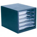 Esselte desktop filing drawers A4 5-drawers black