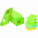 Post-it pop-up notes cabinet pack 76 x 76mm assorted jaipur colours pack 18
