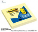 Post-it pop-up notes 76 x 76mm 100 sheets yellow