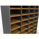 Rapid worker pigeon hole unit extra shelf with clips beech/ironstone