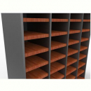 Rapid worker pigeon hole unit extra shelf with clips cherry/ironstone
