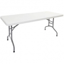 RAPIDLINE FOLDING TABLE POLY 2000 X 900MM OFF WHITE