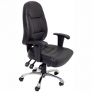 RAPIDLINE ERGONOMIC TASK CHAIR HIGH BACK SLIDE SEAT WITH CHROME BASE AND ADJUSTABLE PU BLACK